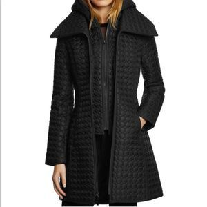 Flaw New DAWN LEVY Gwen Hooded Circle Quilted Coat